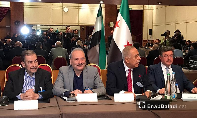 وفد المعارضة في جنيف - 24 شباط 2017 (عنب بلدي)