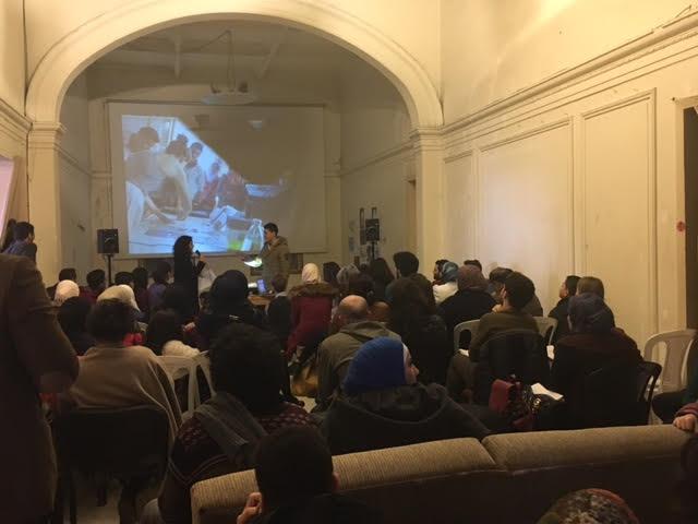 """الحضور في مركز """"منشن"""" في البقاع اللبنانية - 19 شباط 2017 (عنب بلدي)"""