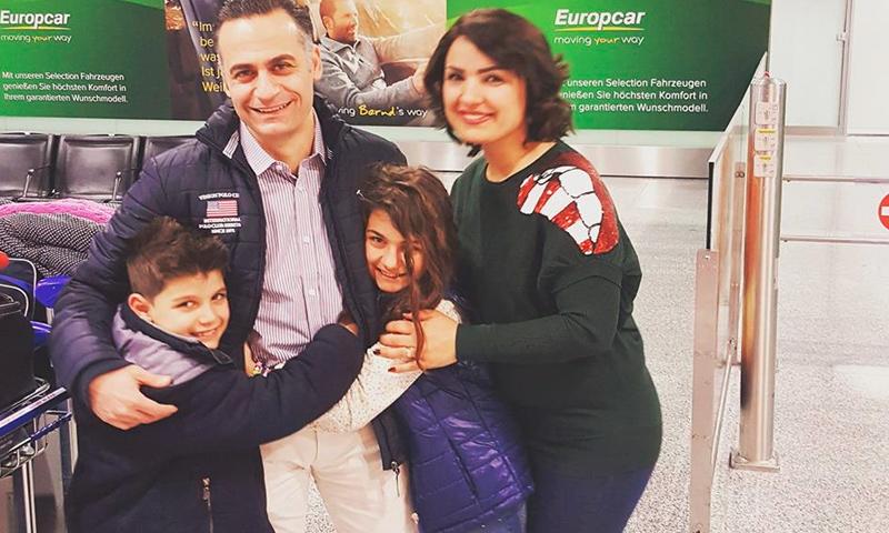 الطفلة السورية لينور الشريف وعائلتها في ألمانيا - 14 شباط 2017 (صفحة والد الطفلة في فيس بوك)