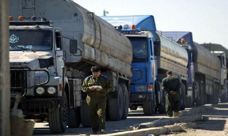 """توفر المازوت في سوريا وعدم توفر صهاريج نقله"""" - (انترنت)"""