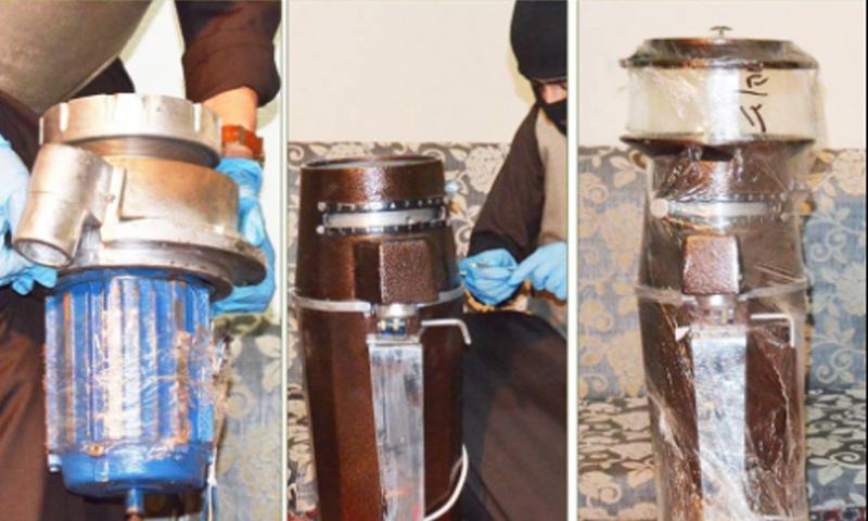 صور نشرتها وزارة الداخلية السعودية للحبوب المخدرة داخل ماكينات طحن القهوة - 9 شباط 2017 (الداخلية السعودية)