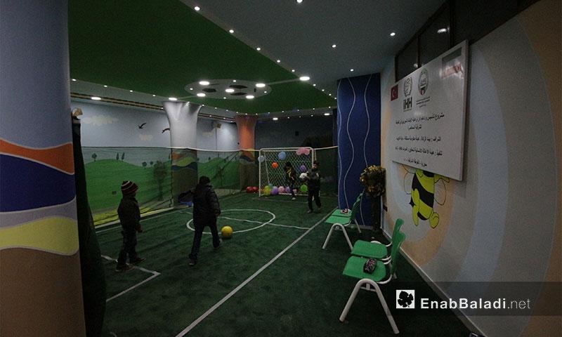 من افتتاح دار ومدرسة دوحة أمل في الغوطة الشرقية - 31 كانون الثاني 2017 (عنب بلدي)