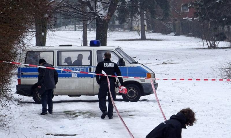 مكان العثور على جثة السوري في بريتس - شباط 2017 (الشرطة الألمانية)