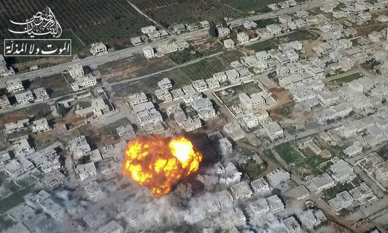 تفجير عربة مفخخة في حي المنشية- الخميس 23 شباط (الموت ولا المذلة)