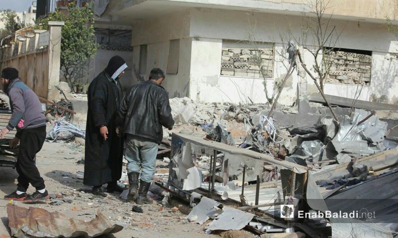 تعبيرية: أهالي الوعر في حمص بين دمار القصف - 8 شباط 2017 (عنب بلدي)