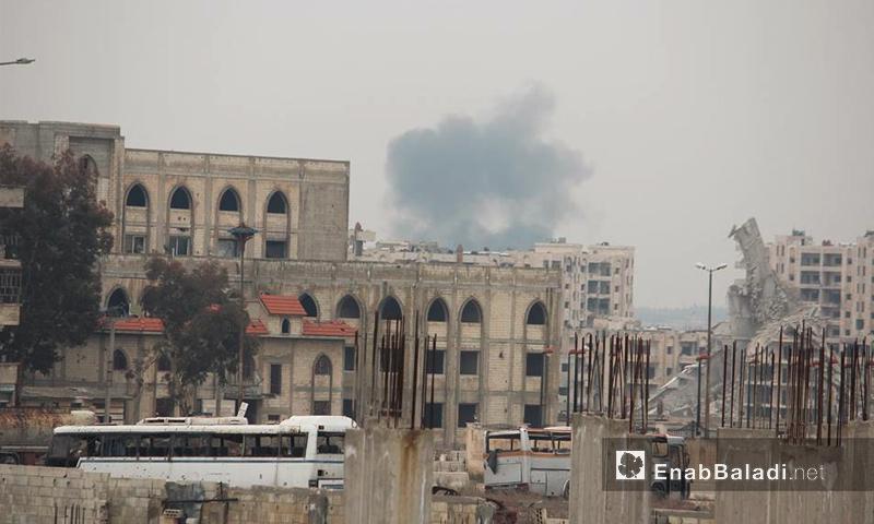 آثار القصف على حي الوعر في حمص -13 شباط 2017 (عنب بلدي)