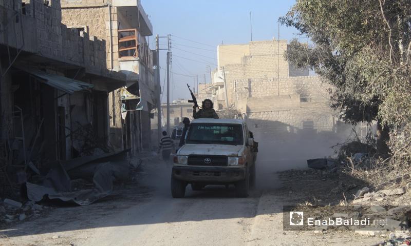 """شاحنة تابعة لـ """"الجيش الحر"""" في مدينة الباب- 23 شباط (عنب بلدي)"""
