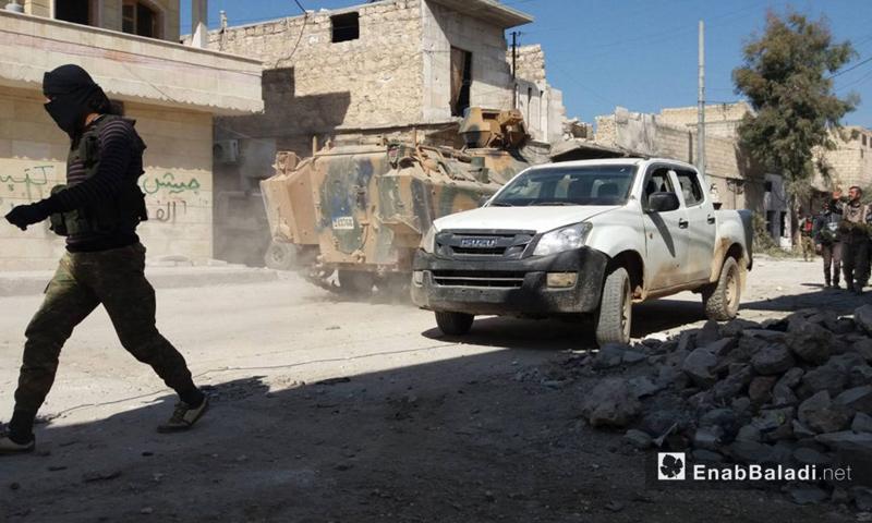 عربات تابعة للجيش الحر في مدينة الباب - 23 شباط 2017 (عنب بلدي)