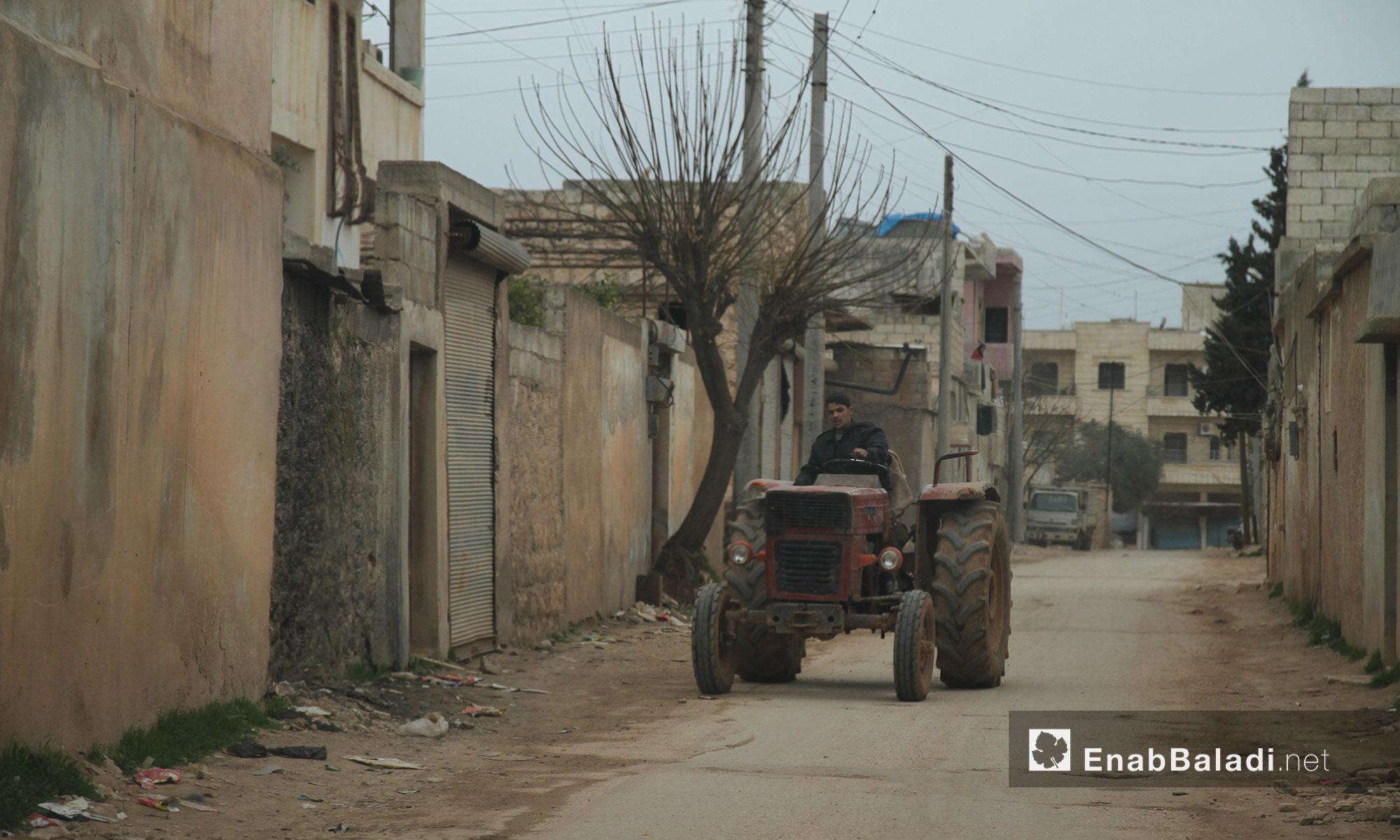 جانب من الحياة في مدينة بنش - إدلب - 11 آذار 2017 (عنب بلدي)