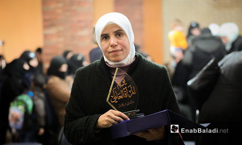 من احتفالية يوم المرأة العالمي في الغوطة الشرقية - 8 آذار 2017 (عنب بلدي)