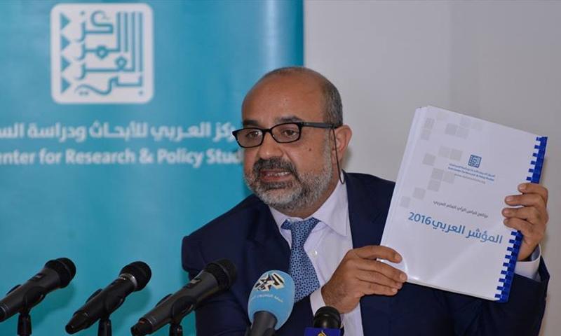 """إعلان نتائج """"المؤشر العربي"""" لعام 2016 - الاثنين 13 آذار - (المركز العربي للأبحاث)"""