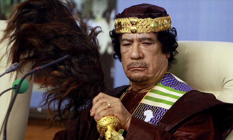 رئيس ليبيبا السابق، معمر القذافي (إنترنت)