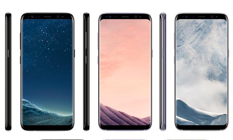 """ألوان هاتف """"غالاكسي إس 8"""" وفق الخبير التقني، إيفان بلاس - 19 آذار 2017 (تويتر)"""