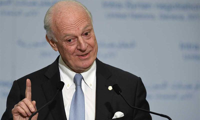 مبعوث الأمم المتحدة إلى سوريا ستيفان دي ميستورا (AFP)