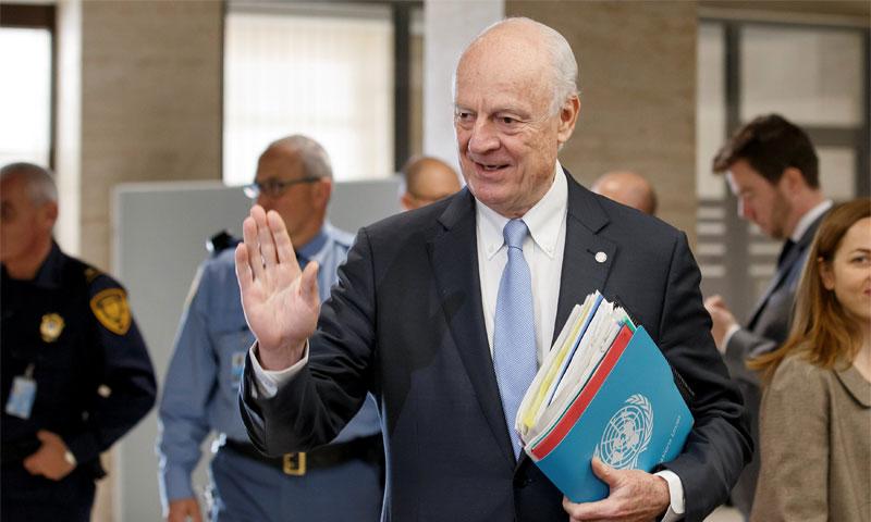 مبعوث الأمم المتحدة إلى سوريا ستيفان دي ميستورا 3 آذار (AFP)