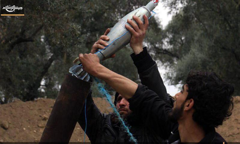عناصر من جيش الإسلام في بساتين حي برزة الدمشقي - 24 آذار 2017 - (جيش الإسلام)