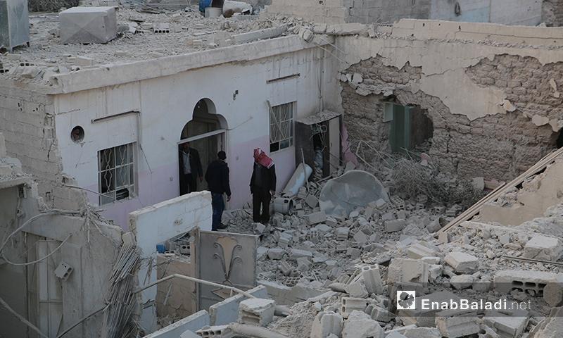 آثار القصف على مدينة دوما في الغوطة الشرقية - آذار 2017 (عنب بلدي)