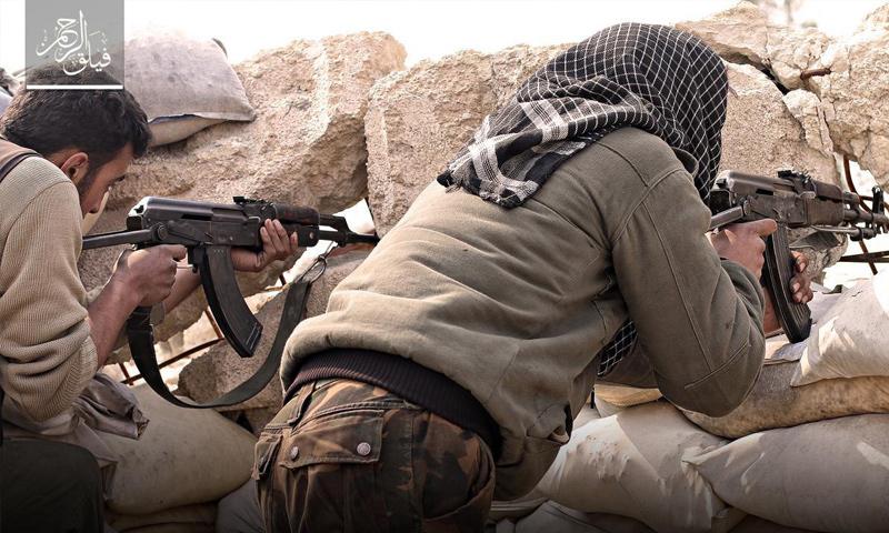 """مقاتلو """"فيلق الرحمن"""" على جبهة حي جوبر - 16 شباط 2017 (فيلق الرحمن)"""