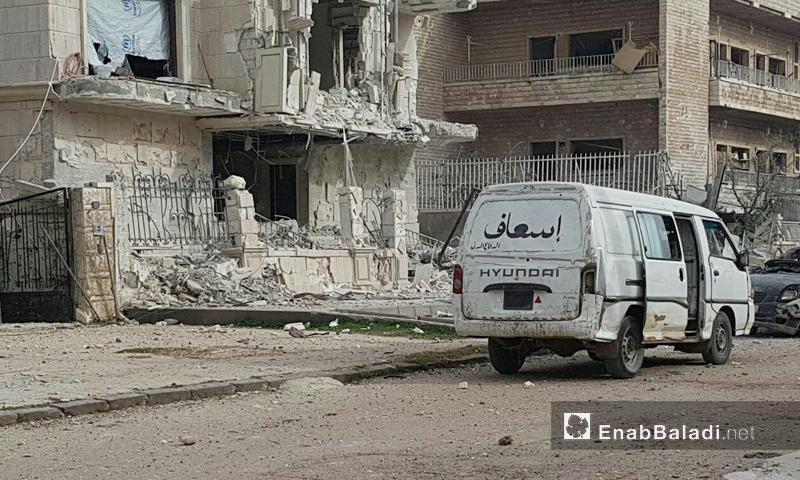آثار الدمار في حي الوعر في مدينة حمص- شباط 2017 (عنب بلدي)