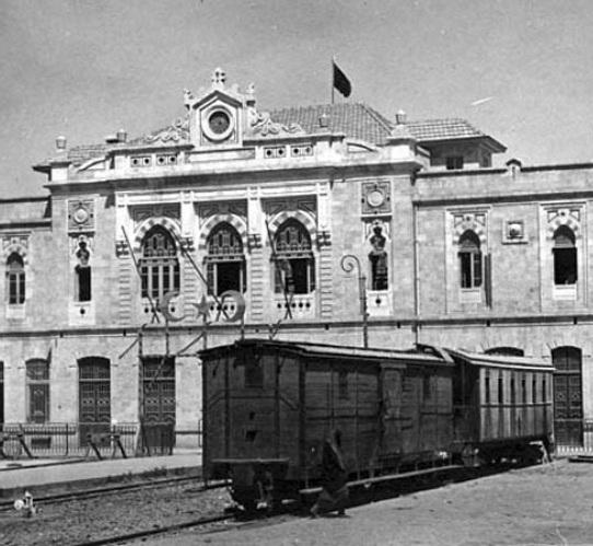 محطة الحجاز عام 1908