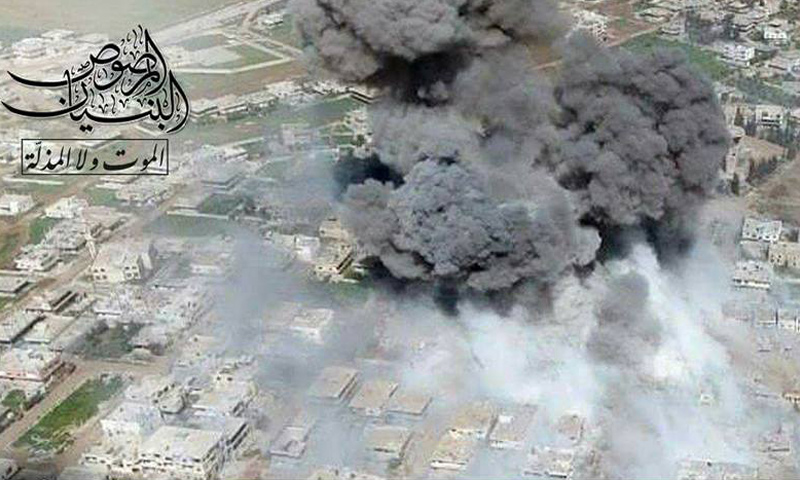 الانفجار الناجم عن تفجير عربة مفخخة في حي المنشية بمدينة درعا- الأحد 12 آذار (البنيان المرصوص)
