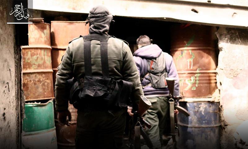 مقاتلو المعارضة على جبهة حي جوبر في دمشق - آذار 2017 (فيلق الرحمن)