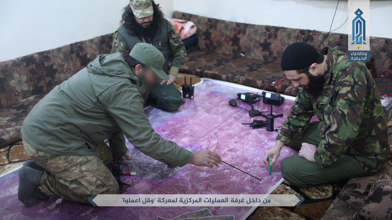 الجولاني والطحان يركزان على مطار حماة العسكري في خارطة حماة- الجمعة 24 آذار (وكالة إباء)