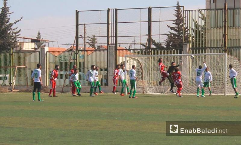 تعبيرية: من مباريات دوري الدرجة الثانية في إدلب - 10 آذار 2017 (عنب بلدي)