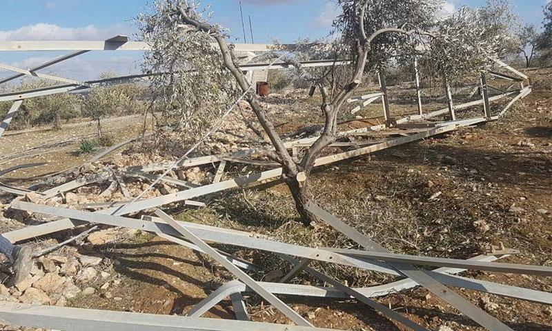 تفجير أبراج الكهرباء على طريق درعا - غرز لسرقتها (جورج سمارة)