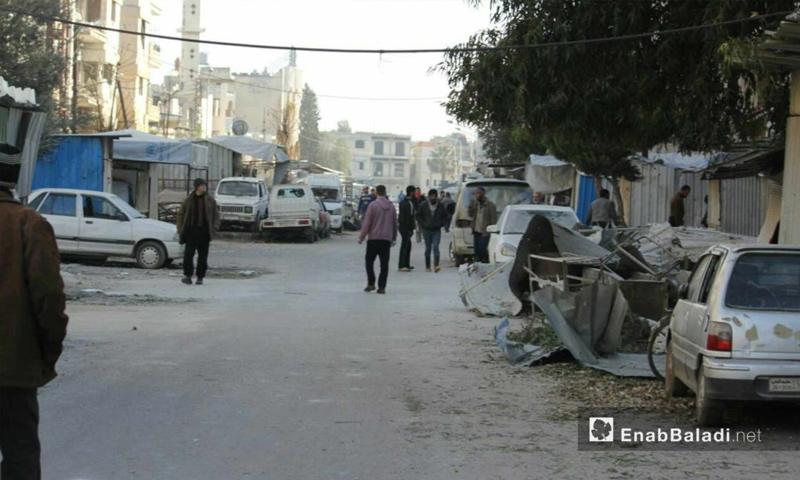 آثار القصف على حي الوعر في حمص - 26 شباط 2017- (عنب بلدي)