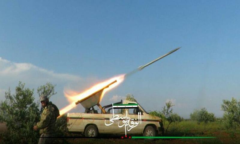 الفرقة الوسطى تستهدف مواقع قوات الأسد في ريف حماة الشمالي- (الفرقة الوسطى)