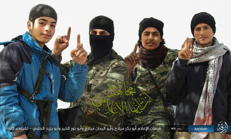 إعلاميي تنظيم الدولة الأربعة الذين قتلوا في محيط الرقة - 3 نيسان - (أعماق)