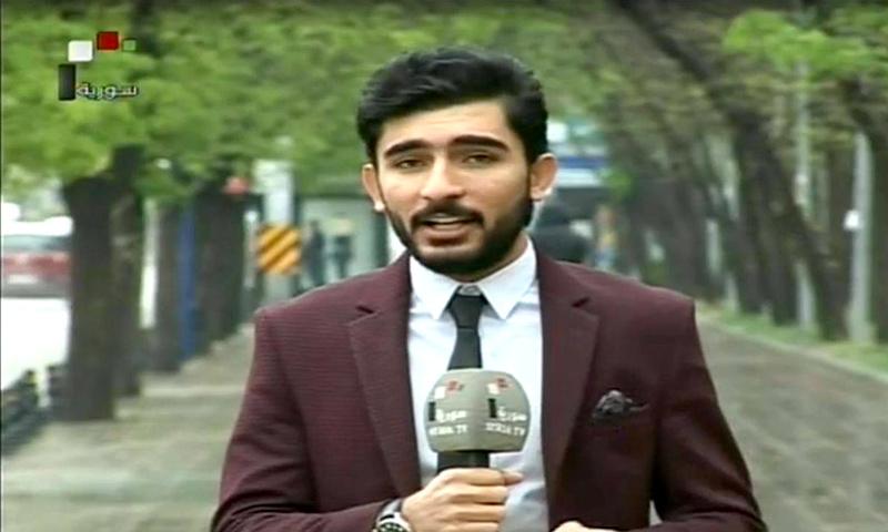 مراسل التلفزيون السوري في أنقرة أديب عبد الفتاح (التفزيون السوري)