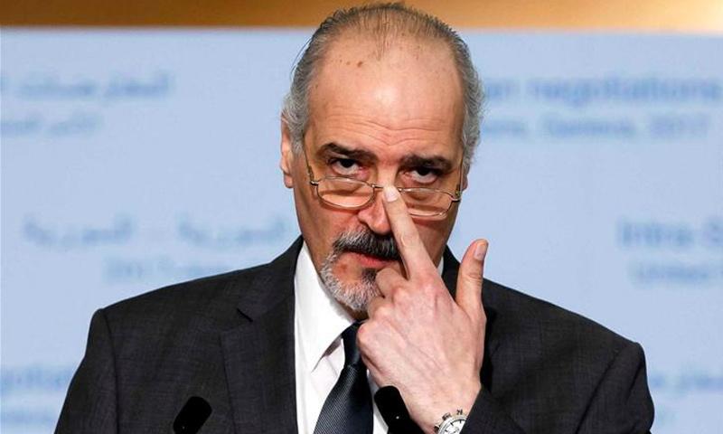 مندوب النظام السوري في مجلس الأمن بشار الجعفري (EPA)