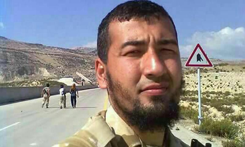 """صورة منسوبة لـ """"جابر الأوزبكي"""" المتهم باغتيال القيادي صلاح الدين البخاري (تويتر)"""