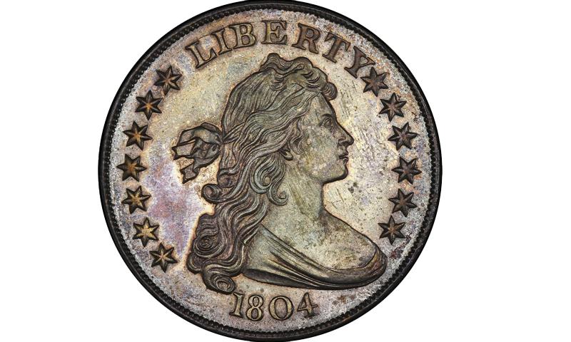 دولار فضي يعود إلى عام 1804 - (انترنت)