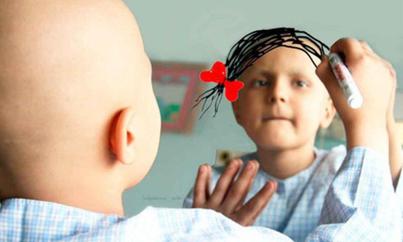 طفلة مصابة بالسرطان (إنترنت)