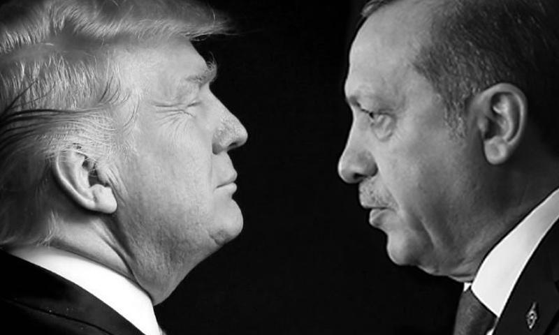 الرئيسان التركي رجب طيب أردوغان، والأمريكي دونالد ترامب (إنترنت)