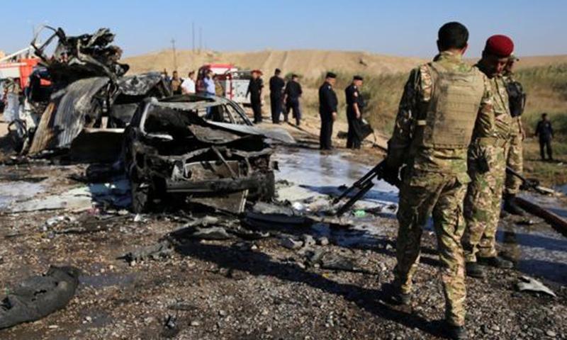 تفجير انتحاري لداعش قرب تكريت في تشرين الثاني 2016 (إنترنت)