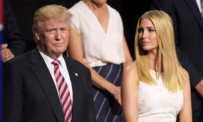 إيفانكا بجانب والدها دونالد ترامب (إنترنت)