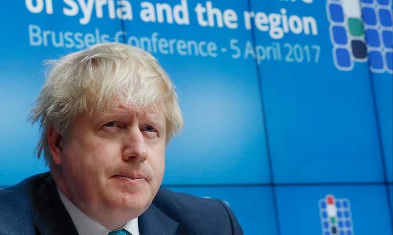 وزير الخارجية البريطاني، بوريس جونوسون (إنترنت)