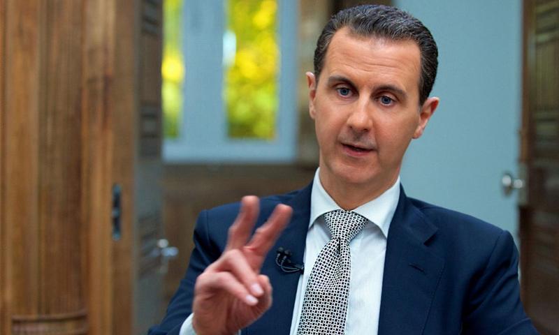 رئيس النظام السوري بشار الأسد في مقابلة مع وكالة فرانس برس- 12 نيسان - (AFP)