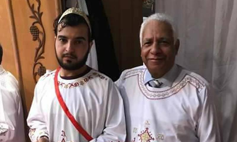 الشاب حسان أبو حمزة أثناء تعميده في ألمانيا (فيس بوك)