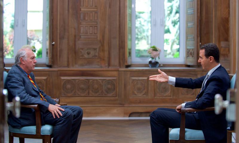 """مقابلة الأسد مع وكالة """"فرانس برس"""" - 13 نيسان 2017 (رئاسة الجمهورية السورية)"""