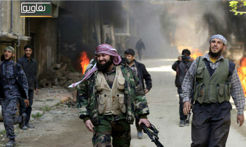 القائد العام لجيش الإسلام الشيخ عصام بويضاني ضمن جولة على محاور عملية وتعاونوا شرق الغوطة - (جيش الإسلام)