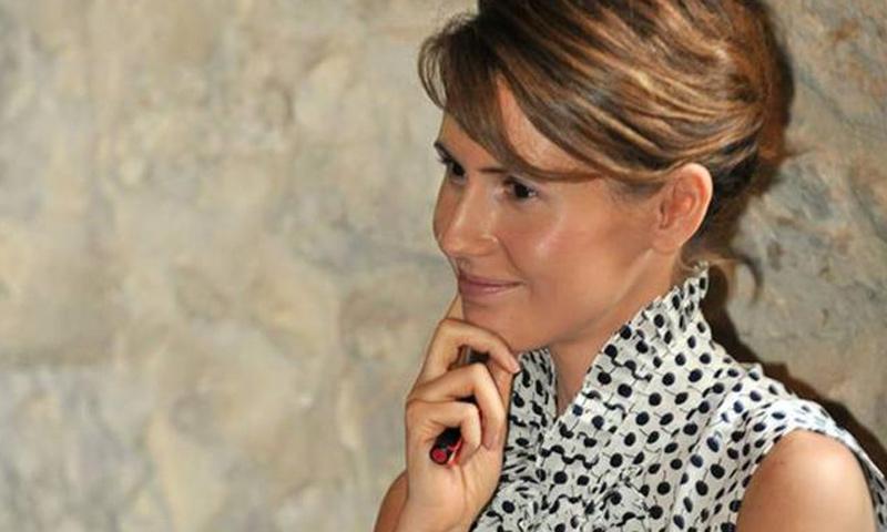 أسماء الأسد زوجة رئيس النظام السوري، بشار الأسد- (صنداي تايمز)