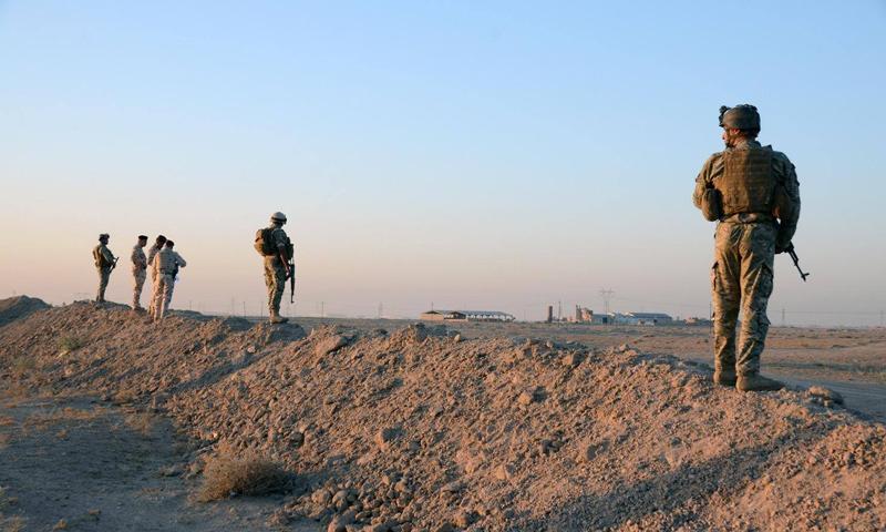 عناصر من الجيش الأردني على الحدود السورية الأردنية - (انترنت)