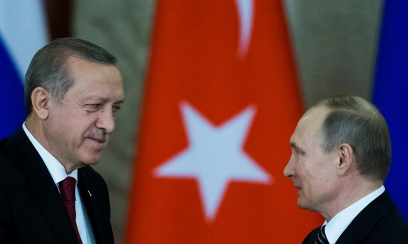 الرئيسان الروسي والتركي فلاديمير بوتين ورجب طيب أردوغان - (سبوتنيك)