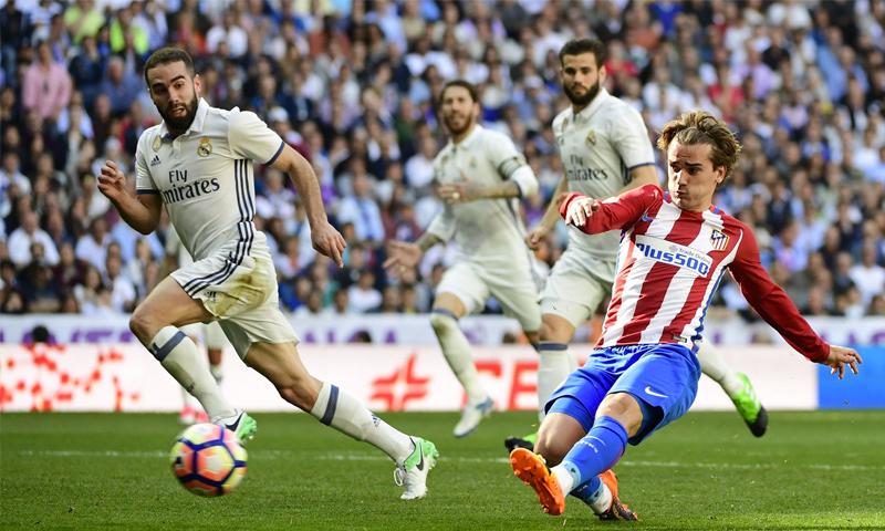 غريزمان يسجل هدف التعادل في شباك ريال مدريد
