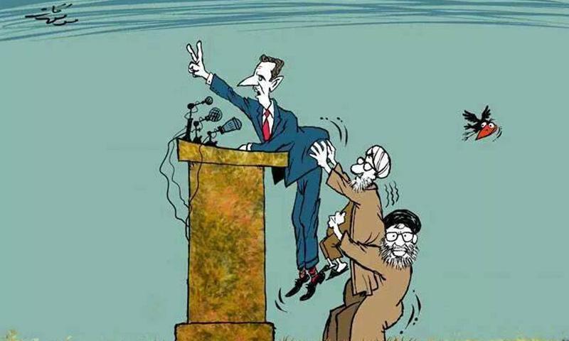 كاريكاتير لرئيس النظام السوري بشار الأسد- (موفق قات)